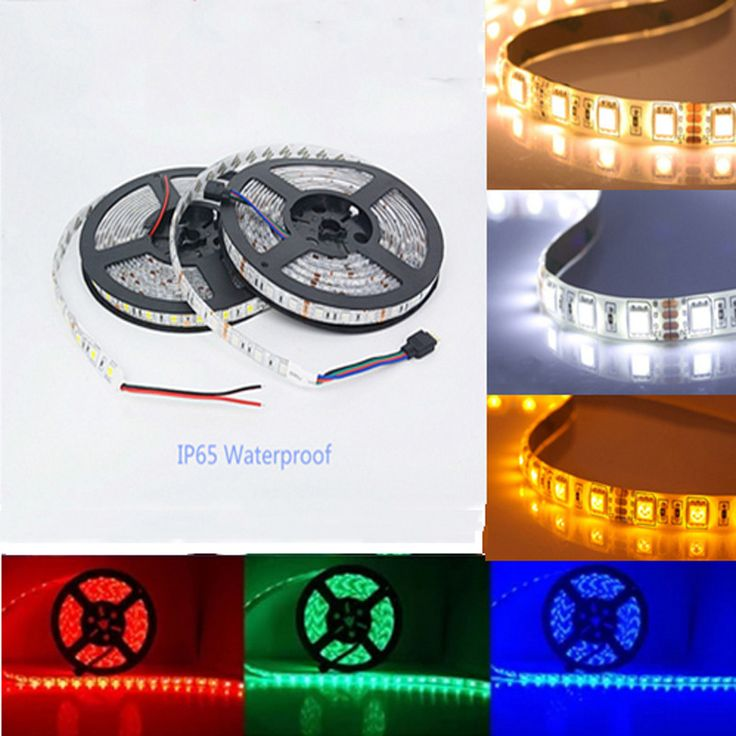 5M LED strip 5050 IP65 Waterproof 60LED/M DC12V Flexible LED Light Strip RGB CoolWhite Warm White Blue led ruban luces led tiras