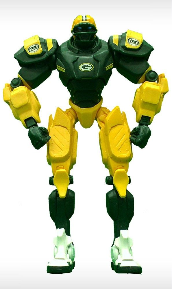 "The era of Cleatus the FOX Sports Robot has begun! No mere action figure, the FOX Sports Robot is your official in-home mascot! Each 10"" posable robot is made of extra-sturdy PVC plastic and features"