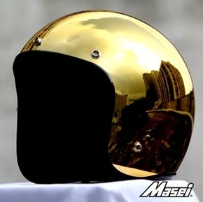 Masei Gold Chrome 610 Open Face Motorcycle Helmet Free Shipping Worldwide