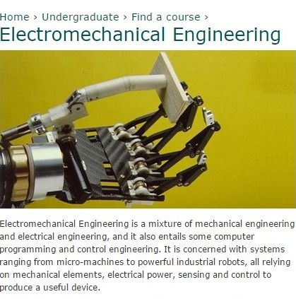 Electromechanical Engineering | Electronics and Computer Science (ECS)