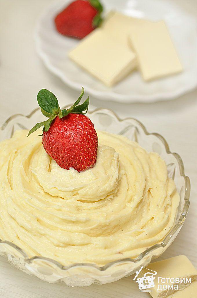Рецепт Заварной крем с белым шоколадом