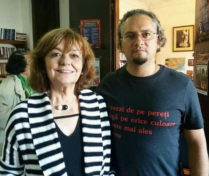 Poeta Ana Blandiana si scriitorul Olimpiu Nusfelean