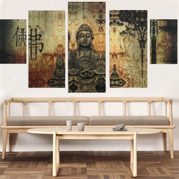Frameless Huge Buddha Abstract Canvas Oil Painting Modern Art Home Wall  Decoration Features  Frameless Huge. 25  best ideas about Frameless Picture Frames on Pinterest