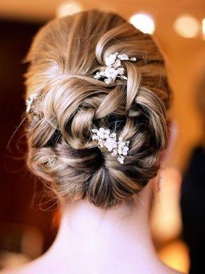 Pretty hair idea :): Hair Ideas, Wedding Hair, Bridesmaid Hair, Wedding Updo, Bridal Hair, Girls Hairstyles, Baby Breath, Hair Style, Flower