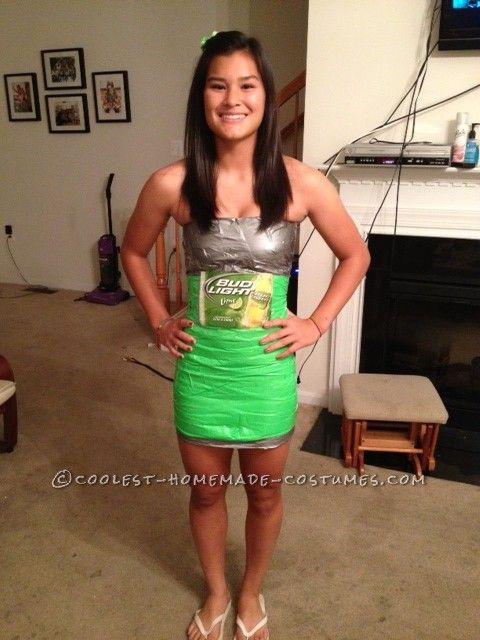 Best Beer Bottle Costume For College Girls Green Skirts