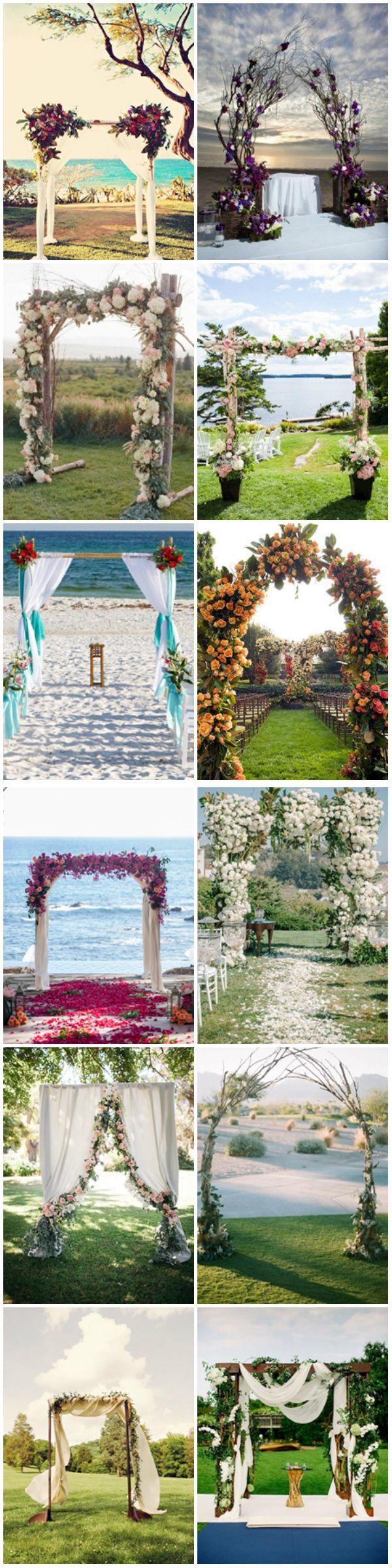 Hermosos y creativos altares para la ceremonia