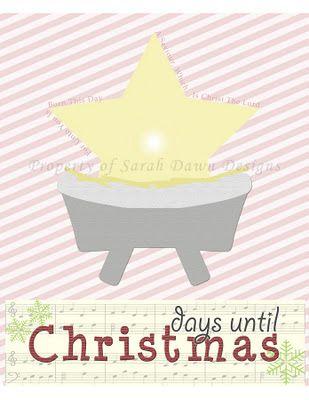 Countdown Until Christmas Printable