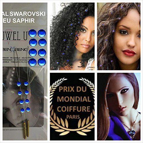 Bijoux cheveux Promotion 16 STRASS CHEVEUX BLEU SAPHIR SWAROVSKI + 2 GRANDES PLANCHES DE TATOUAGES GRATUITES DANS VOTRE COLIS. Accessoires…