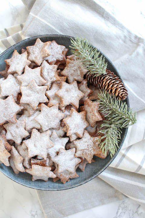 Healthy Almond and Cinnamon Christmas Stars - plant based, gluten free, healthy, refined sugar free