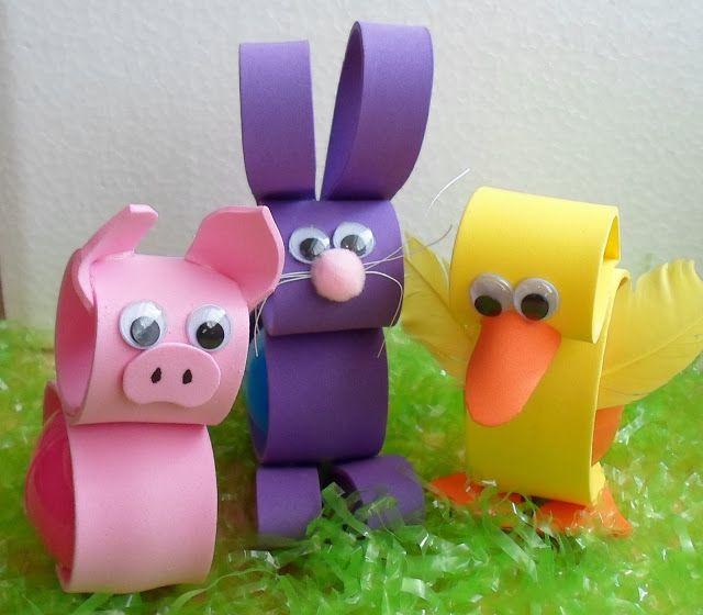 Foam Easter Egg Holders 2013- Pig Alert