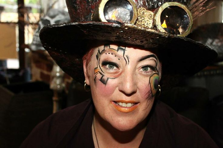 The completed Steampunk look!  Make up by the insanely talented - Ruby Jewelz https://www.facebook.com/Sir.Gaga.21?fref=ts Photo credit - Nikki Holmes Photography https://www.facebook.com/nikkiholmescreative