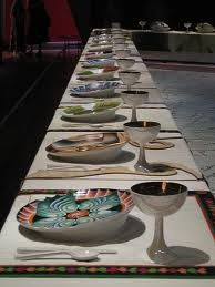 The Dinner Party - Judy Chicago. Saw this captivating and interesting work of art at the Brooklyn Museum of Art recently. Research this project, it's very interesting.