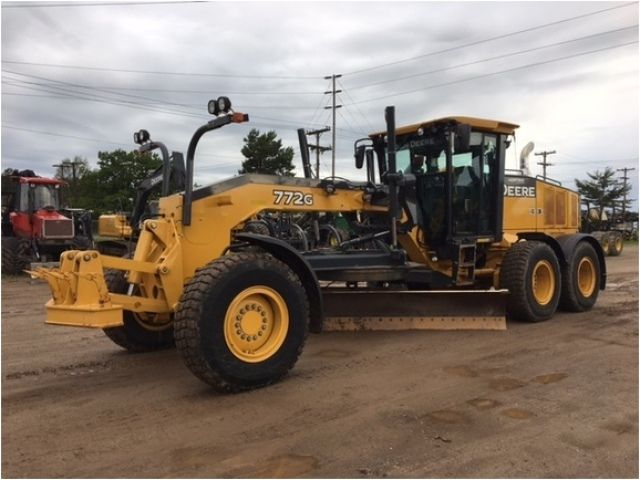 Our Featured Motor Grader is a 2013 John Deere 772G, Low Cab, A/C, 14' MB, 14' Blade, AWD, Front Scarifier, 2,313 Hrs. We have a great selection of Motor Graders! You can view them all at: http://www.rockanddirt.com/equipment-for-sale/motor-graders #RockandDirt #HeavyEquipment #MotorGraders