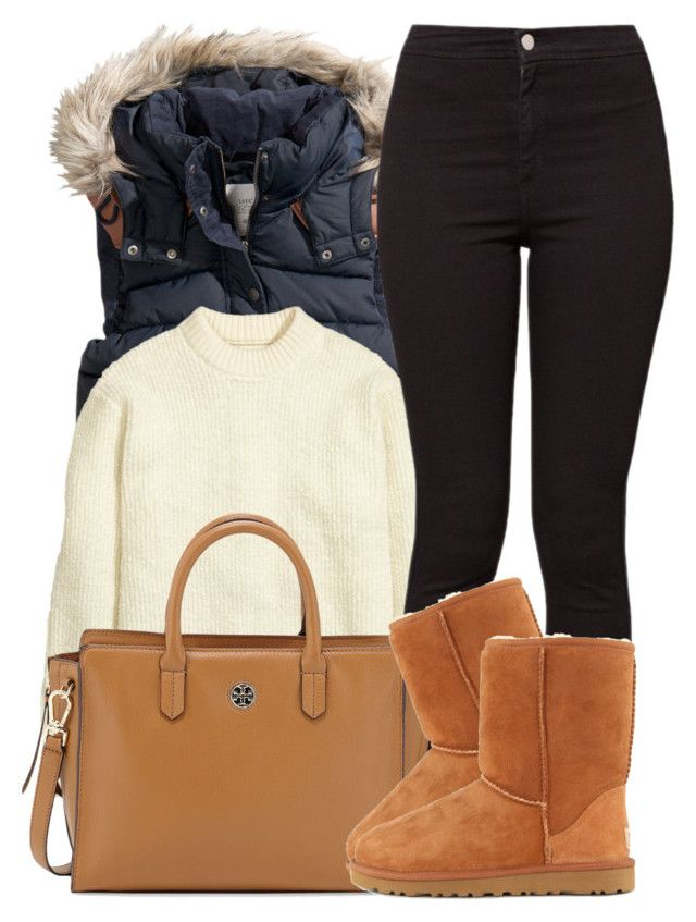 """""""10 18 15"""" by miizz-starburst ❤ liked on Polyvore featuring H&M, American Apparel, Tory Burch and UGG Australia"""