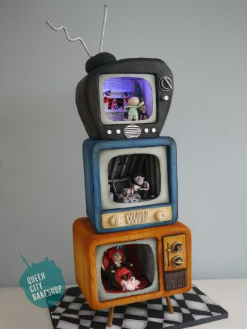 Tim Burton Groom's Cake  Nightmare before Christmas, Frankenweenie, Alice in Wonderland Cake