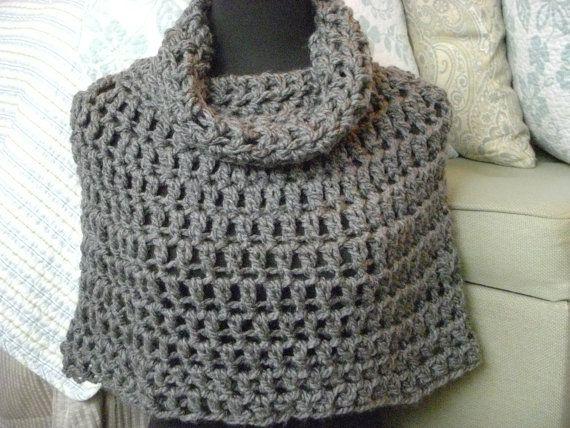 Crochet Poncho Pattern PDF Bennington Capelet Cowl by shelby1998