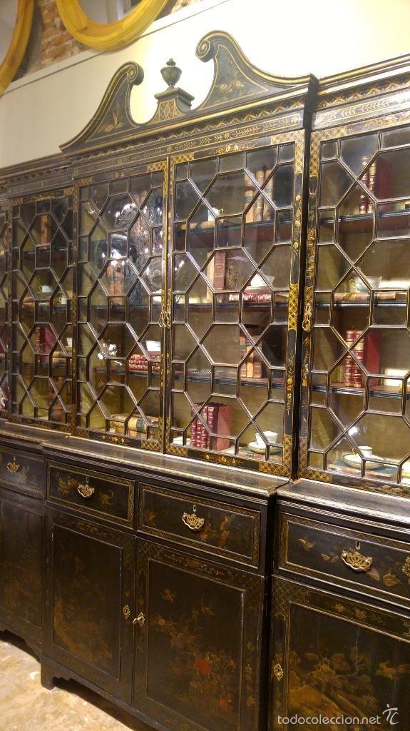 Antig edades libreria vitrina alacena inglesa principios for Muebles marroquies online