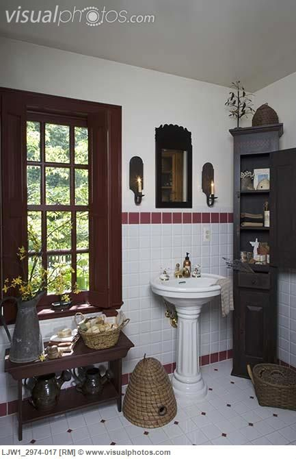 4427 best images about primitive decorating on pinterest for Colonial bathroom ideas