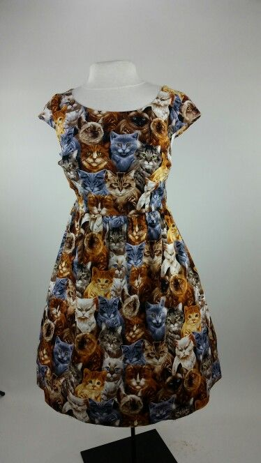 Kitty Kat dress _ Meow. By Folters clothing. In Plus sizes