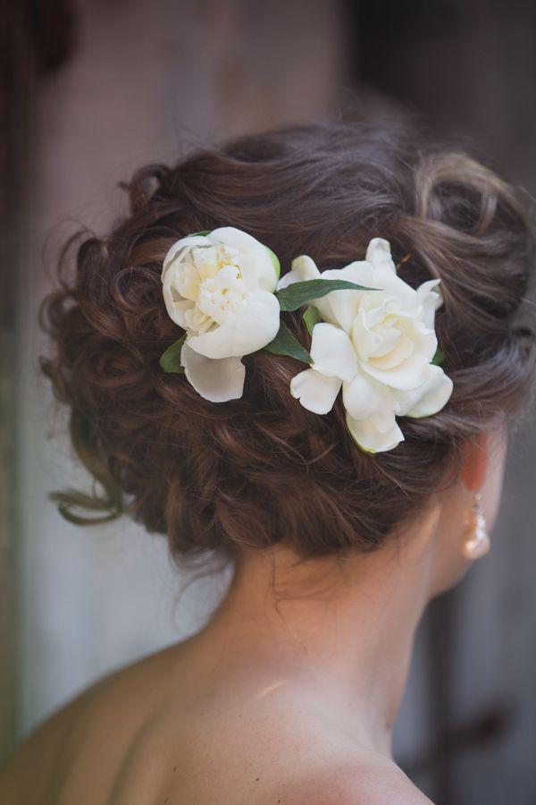 gardenia hair flower | Heirloom Collective