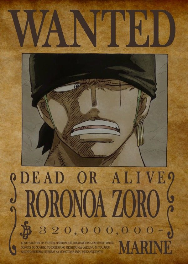 One Piece Wanted Posters Roronoa Zoro Displate Artwork By Artist