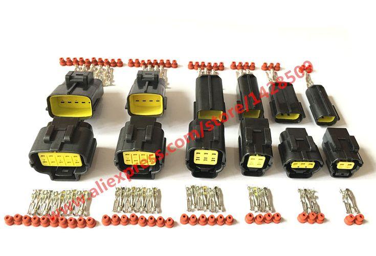 6 Zestawów 2 P 3 P 4 P 6 P 8 P 10 P Denso Stylu 2.0 Seria Kabel Adapter Złącze Motoryzacyjny Drutu Złącze Elektryczne 174259-2 318623-5