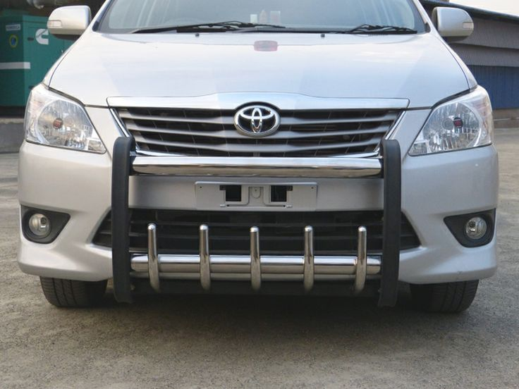 GoldSun Auto (P) Ltd., - Manufacturers of Quality Auto Accessories. At GoldSun, we manufacture various range of car accessories like FRONT BUMPER, REAR BUMPER, NUDGE GUARDS, SIDE FOOT STEPS, for TOYOTA INNOVA cars. Now make Your stylish car, Double Protected With GOLDSUN Car Accessories using GB 102 FRONT BUMPER!