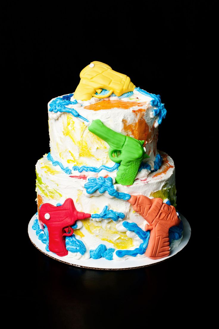 https://flic.kr/p/oFYagB | Water Gun Birthday Cake