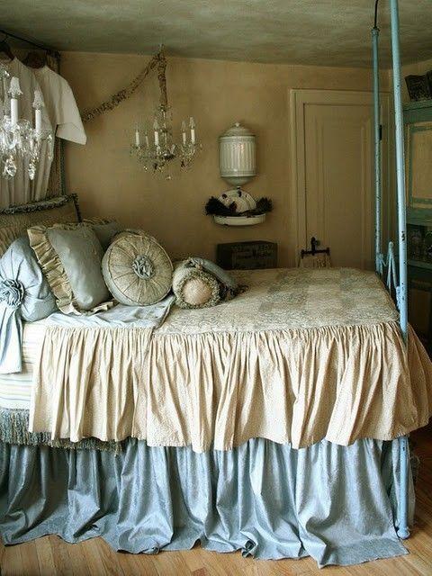 ◉Dreams Bedrooms, Design Bedroom, French Bedrooms, Romantic Bedrooms, Shabby Chic, Blue Bedrooms, Master Bedrooms, Bedrooms Decor, French Style