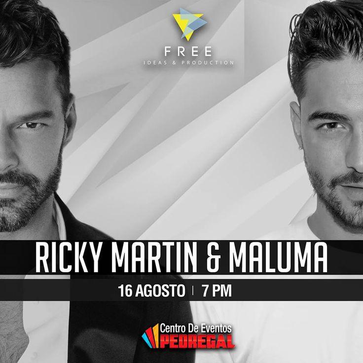 El concierto de Maluma y Ricky Martin en Costa Rica está programado para el 16 de agosto del 2017 en Pedregal. Ambos traen sus mayores éxitos. Te invita adondeirhoy.com la pagina web #1 en eventos y conciertos. #conciertos #costarica #conciertoscostarica #adondeirhoy #estoespuravida #concierto #vivilamusica #puravida #SiguelaMusica #SigueLaMúsica #aguilasarriba