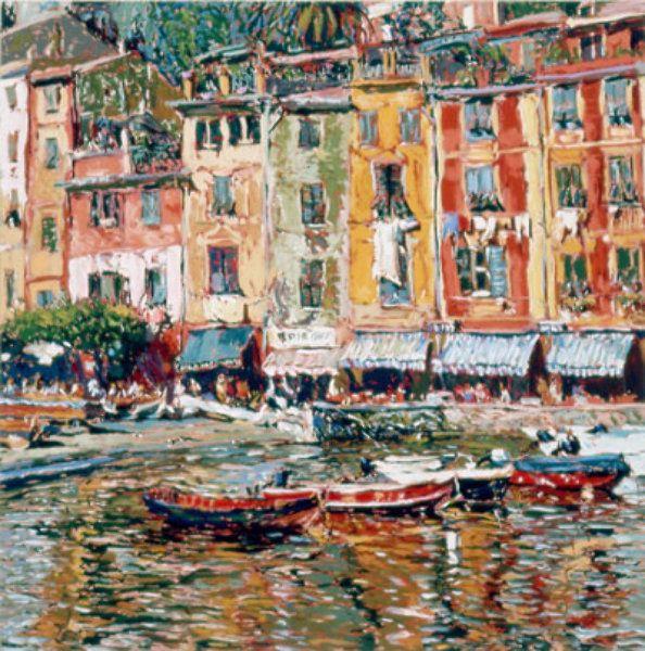 """Limited Edition Print """"Casamenti a Portofino 1988"""" by Marco Sassone"""