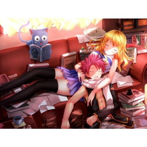 Fairy Tail Natsu & Lucy Anime Poster