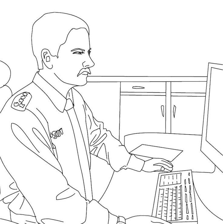 рисунок охранника карандашом осмотре