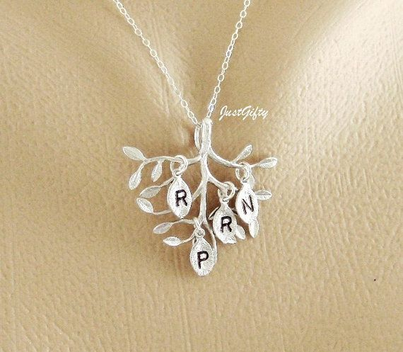 FOUR Initial Necklace Family