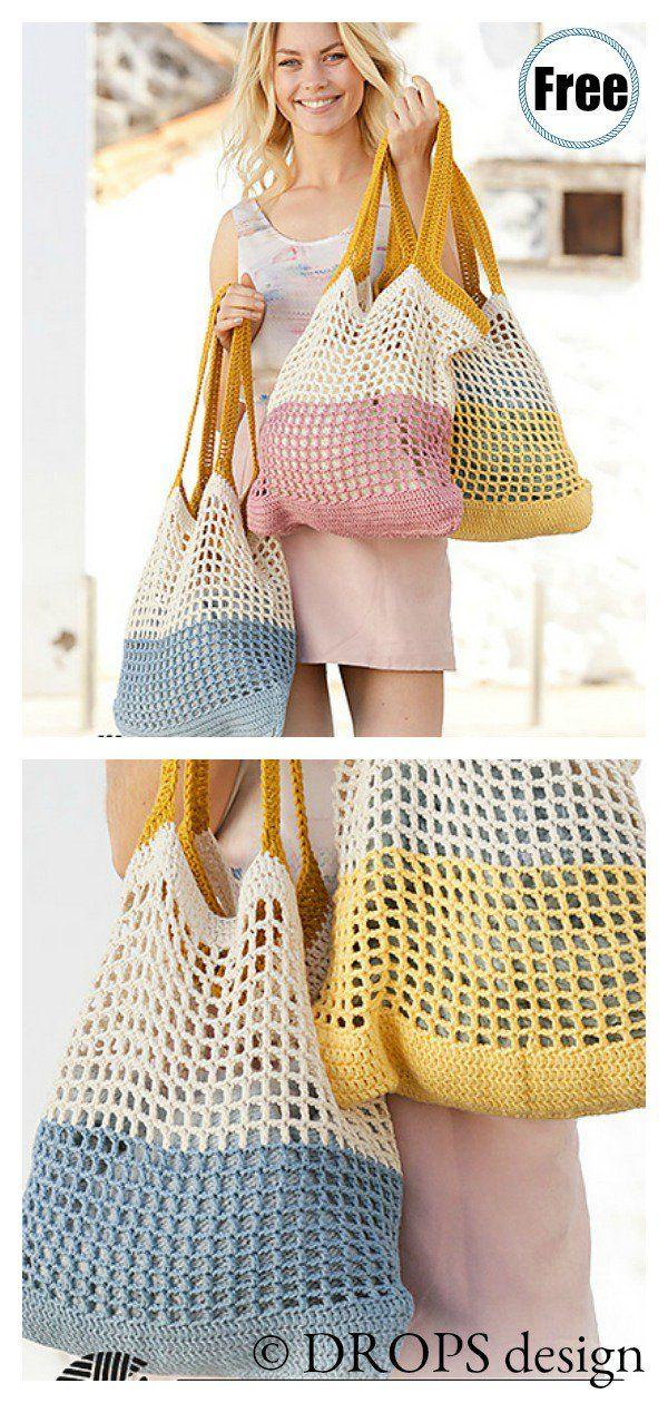 Hummingbird Market Tote Bag Free Crochet Pattern