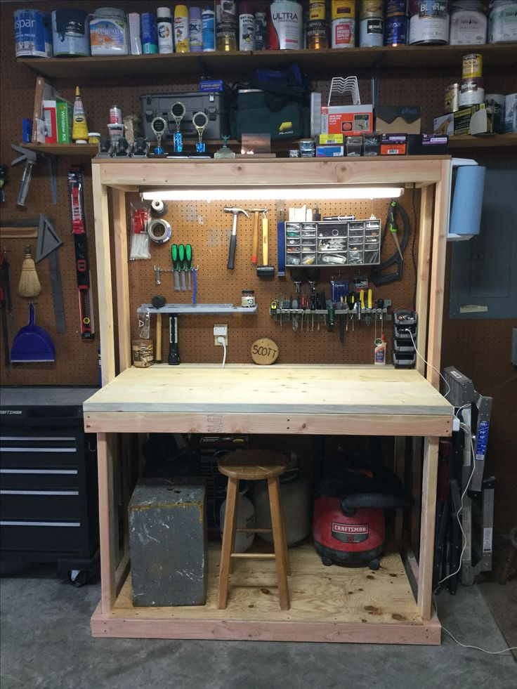 Best 25 small workbench ideas on pinterest garage tools for Simple workshop table