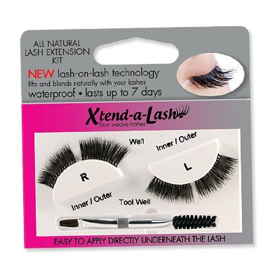 Xtend-a-lash at home lash extensions that last up to 7 days. A bit scary but might try them...