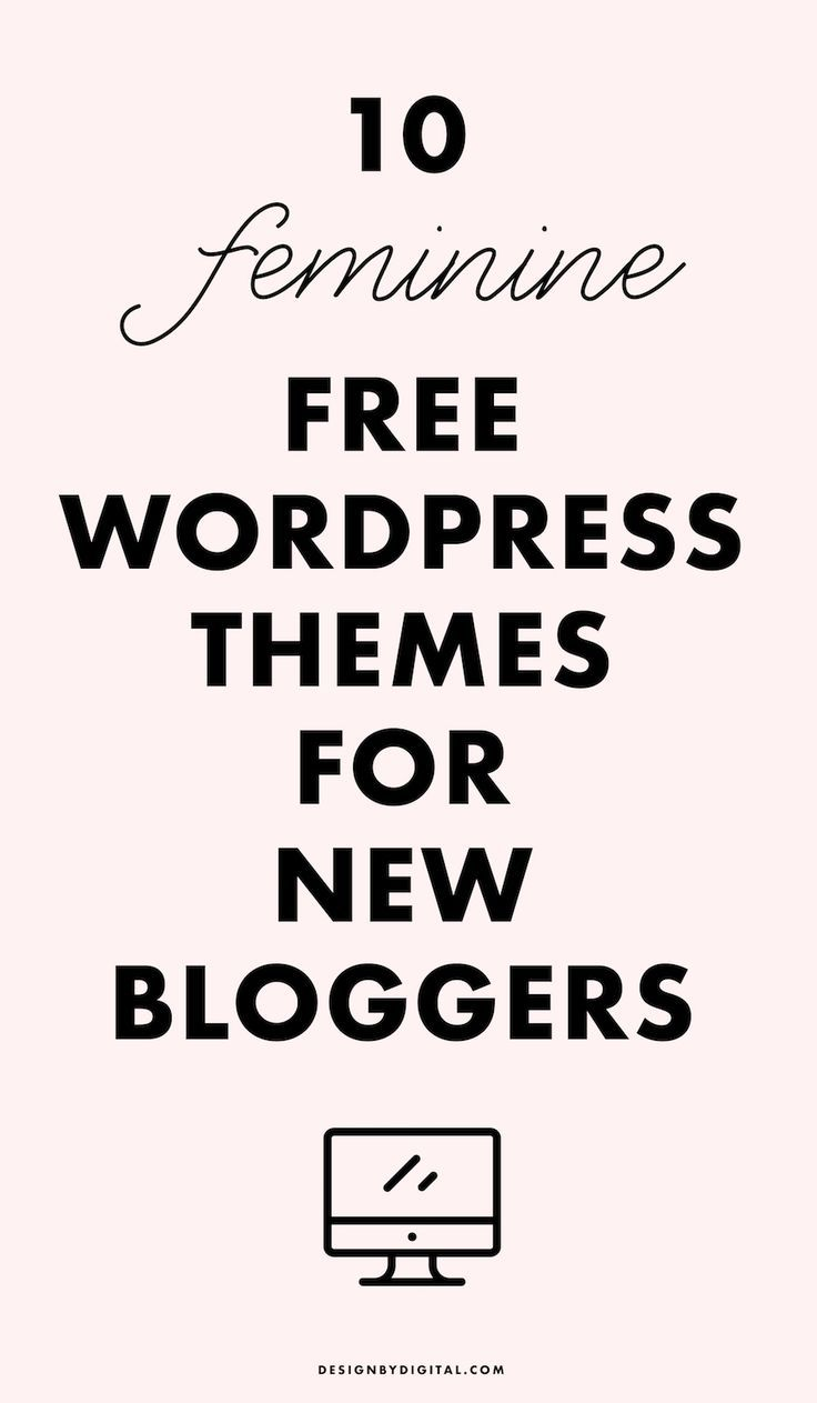 10 FREE Feminine WordPress Themes for New Bloggers, free wordpress themes, feminine wordpress themes, wordpress themes for fashion bloggers, beauty wordpress themes, food wordpress themes, travel wordpress themes
