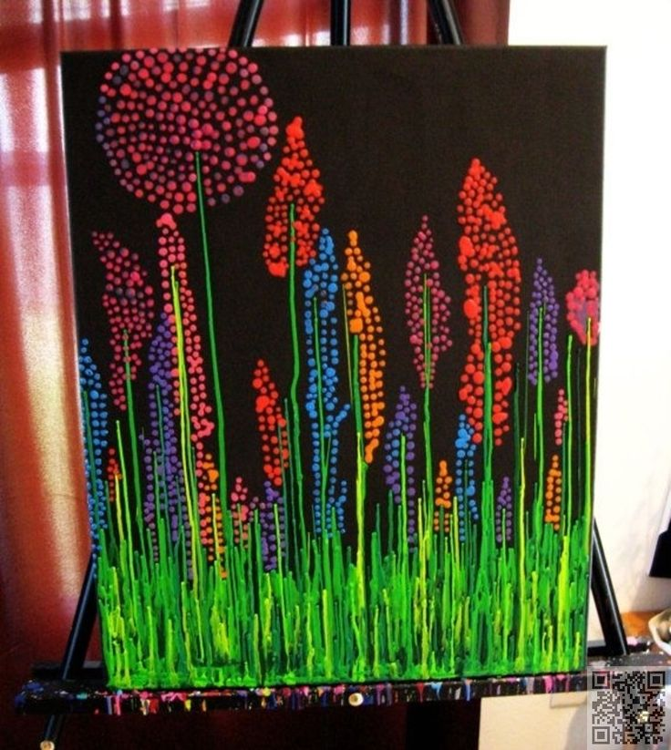 24. #Wildflowers - 36 Vibrant #Examples of Crayon Art ... → DIY #Culture