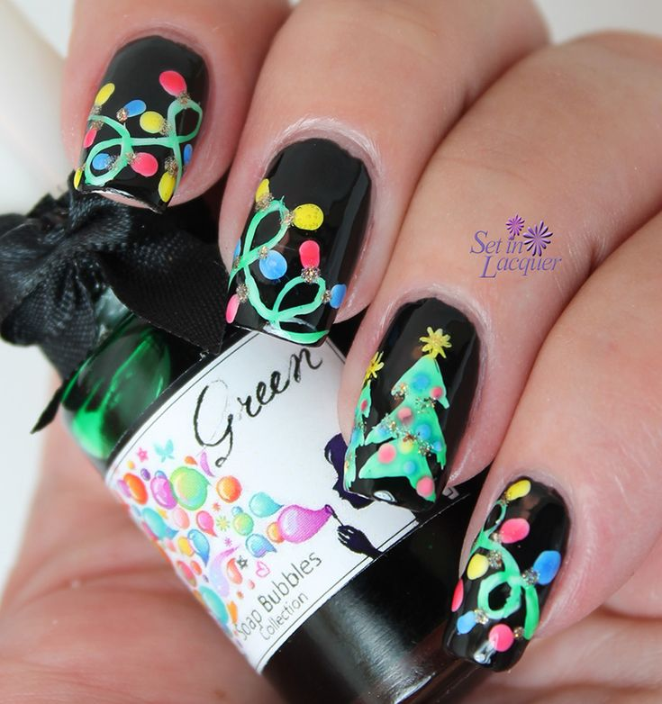 Christmas Lights Nails Pinterest: 17 Best Images About Nail Art