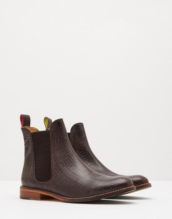 Joules Oxblood Westbourne Leather Chelsea Boots