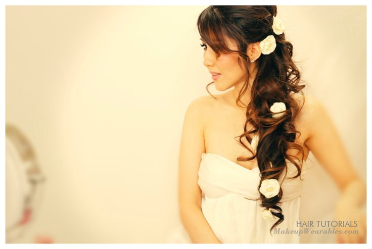 to do this elegant, long wedding #hairstyles on yourself! Half-up half ...