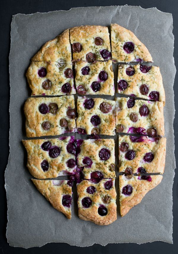 gluten-free faux-caccia with concord grapes. I mean...this looks ...