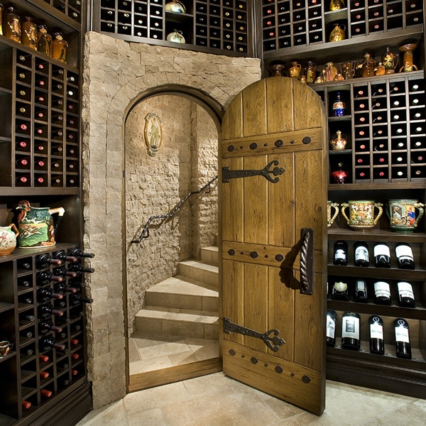 Custom wine racks with display space for collections pic for Cost to build a wine cellar