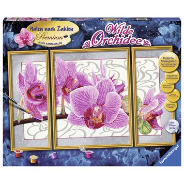 Ravensburger schilderen op nummer Wilde orchidee  Maak in een handomdraai een prachtig meesterwerk met deze set van Ravensburger! Het schilderij bestaat uit 3 delen en is voorzien van een mooie afbeelding van een prachtige wilde orchidee.  EUR 28.99  Meer informatie