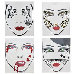 Take the Stress Out of Halloween Makeup With These Temporary Face Tattoos