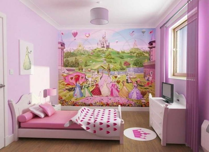 Little Girls Bedrooms   Little Girls Room Decorating Ideas With Wallpaper