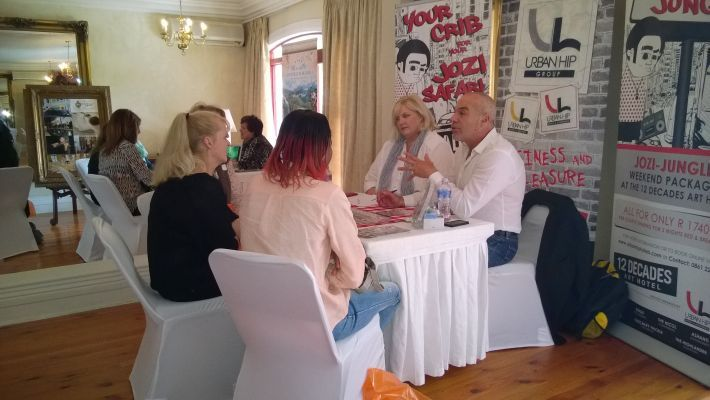 Urban Hip Hotels exhibiting at the Exclusive Getaways workshop in Pretoria Nov 2014