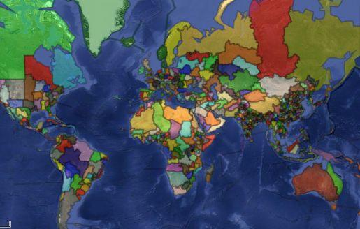 """¿Cómo sería el mundo si estuviera dividido en """"países"""" de 10 millones de habitantes?"""