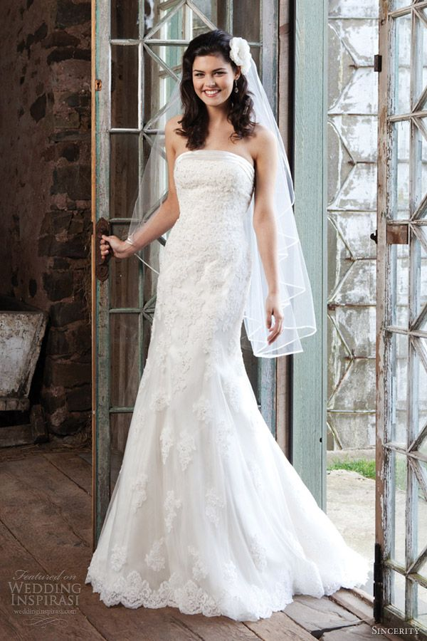 sincerity bridal wedding dresses 2013 strapless gown style 3704